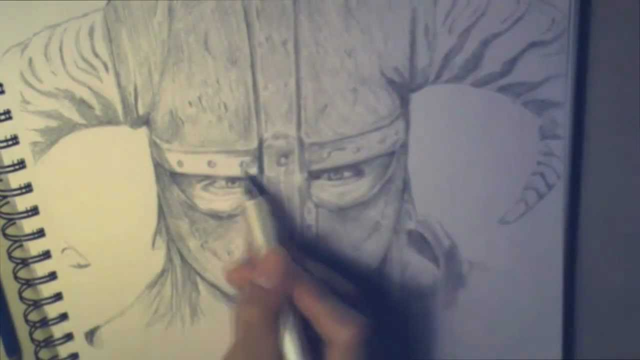 Skyrim Helmets Drawing Let's Draw Skyrim