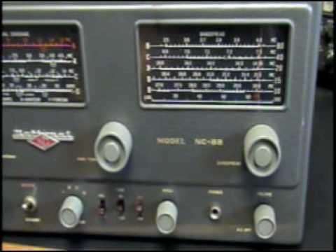Vintage National NC-88 Tube Ham Shortwave Radio Receiver General Coverage AM CW SSB