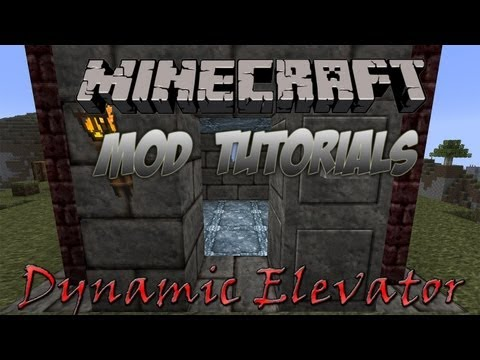 Minecraft 1.4.7 - How To Install The Dynamic Elevator Mod