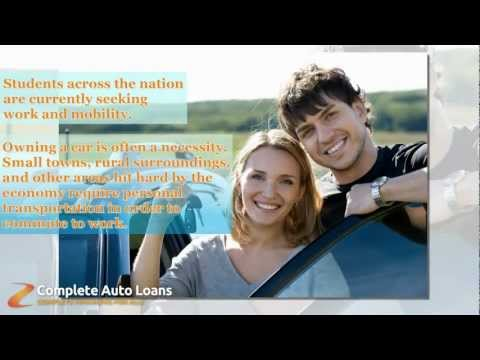 Student Car Loans Are a Reasonable Option for Young People Seeking Bad Credit Auto Loans