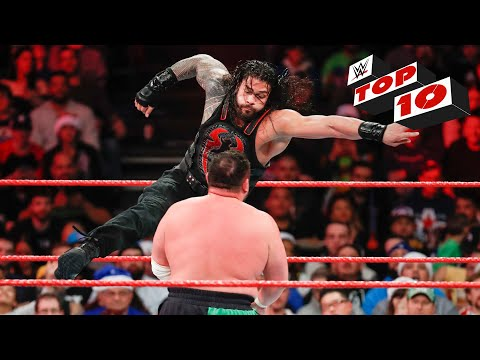 Top 10 Raw moments: WWE Top 10, December 25, 2017 thumbnail