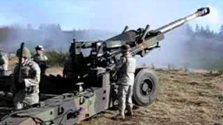 155mm howitzer US army firing some rounds