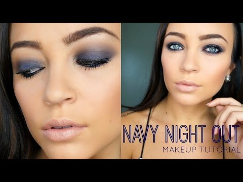 Navy Night Out ♡ Makeup Tutorial (DRUGSTORE)