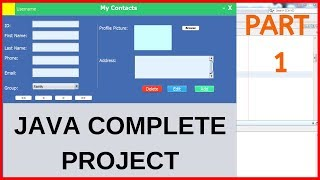 Java Complete Project For Beginners With Source Code - Part 1/2