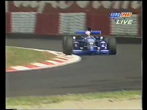 Andrea Montermini sets the benchmark lap time during Friday Qualifying for the 1995 Italian Grand Prix at Monza. The Pacifics, with their customer Ford V8 en...