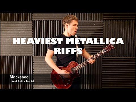 Top 10 HEAVIEST Metallica Riffs - Guitar Medley