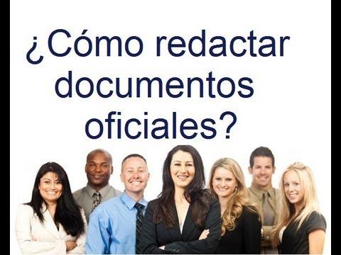 ¿Cómo redactar documentos oficiales?