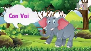 Các con vật trên cạn cho bé nhanh biết nói hay nhất | Dạy bé học online
