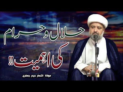Rizq-E-Halal Ki Ahmiyat !! | Maulana Intisar Haider Jaffari | 4K