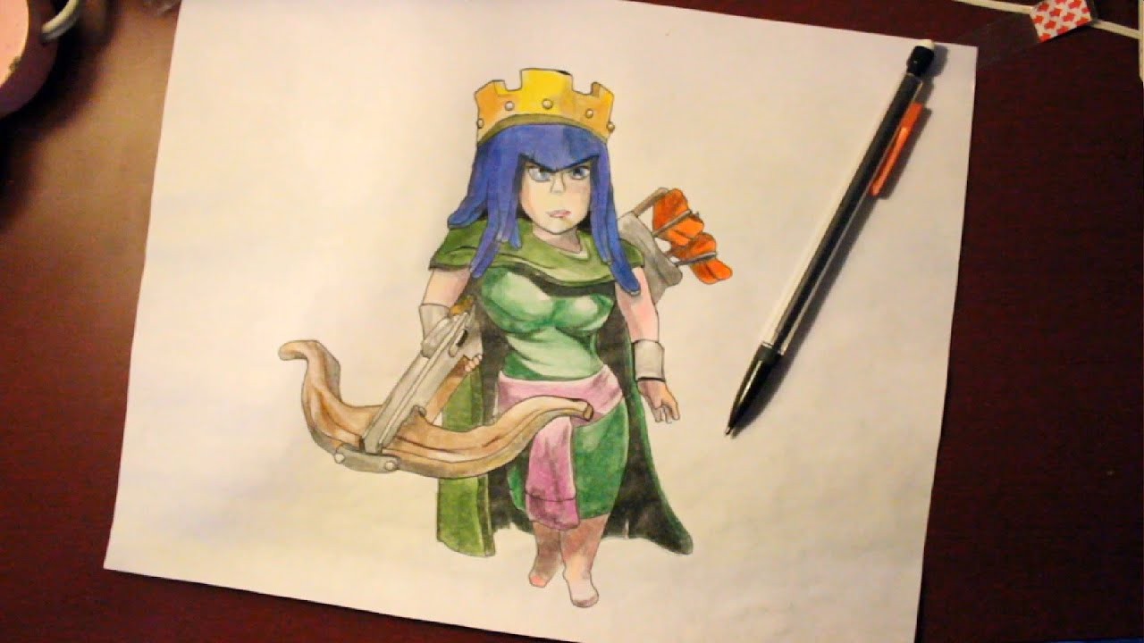 Archer Clash of Clans Drawing How to Draw Archer Queen From