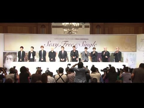 Super Junior the 6th Album 'sexy, Free & Single' press Conference video