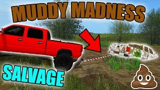 PULLING 4X4 TRUCKS OUT OF MUD PITS | SPENCER'S RESCUE SERVICE | FARMING SIMULATOR 2017