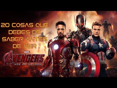 20 Cosas que debes de saber antes de ver Avengers: Era de Ultrón :v