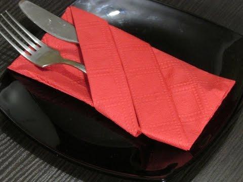 Как сделать из салфеток для столовых приборов 231