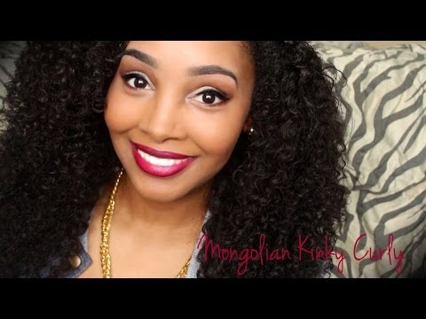 Mongolian Kinky Curly U-Part Installed (Amoysstyleshair )!