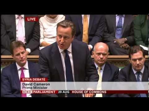 Syria Intervention Vote- UK Parliament,29 Aug 2013- Cameron,Miliband,Straw,Rifkind