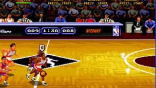 NBA Hangtime Gameplay 'play ball!' (SEGA GENESIS)