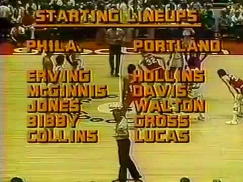 1977 NBA Finals Portland Trail Blazers v Philadelphia 76ers Game 5 1 of 2 (Qtrs 1-3)