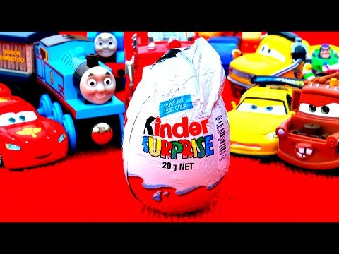 Disney Pixar Cars Kinder Egg Stop Motion Animation Mater Lightning McQueen Thomas the Tank Engine