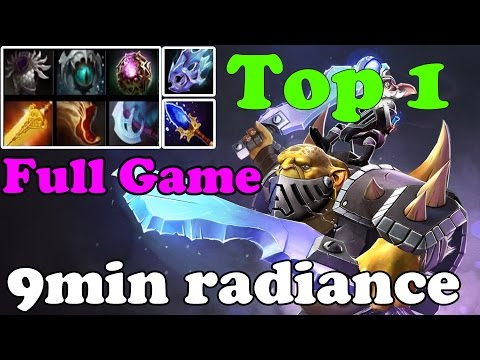 Dota 2 - TOP 1 alchemist in dotabuff : Radiance in 9min and 1306GPM - China Gameplay
