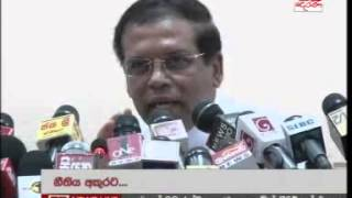 Maithripala says brother was arrested under his instructions - 2012 Video
