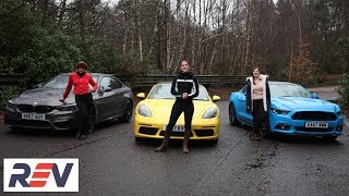 The REV Test: Sports cars. BMW M4 vs Ford Mustang vs Porsche Boxster