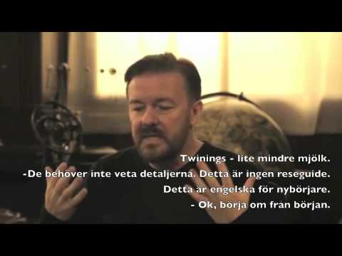 Learn English with Ricky Gervais - Swedish Subtitles