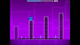 Geometry Dash- Stereo Madness Level 1 ALL STAR COINS!!!!!!