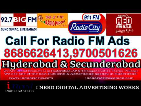 Radio FM Ads In Hyderabad  Secunderabad  Andhra pradesh  Telangana Cities
