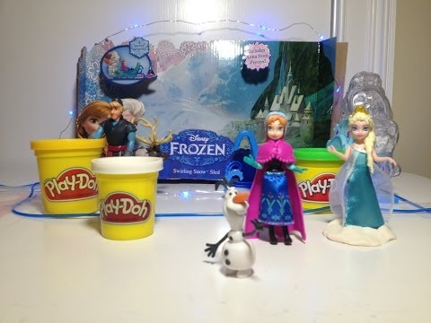 Play Doh How to Make Light Up Olaf From Disney Frozen with Disney Princess Elsa & Anna
