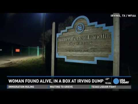 Half-naked Woman Found Alive Inside Box At Landfill video
