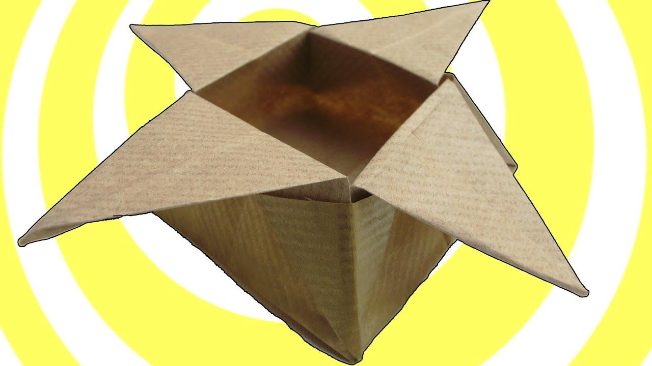 Origami Star Box (easy origami) - YouTube - photo#32