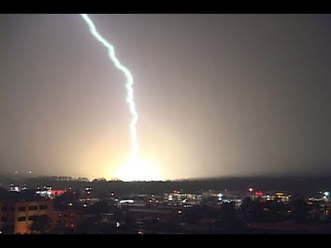 Intense Lightning Storm & Lightning Over The Ocean- Myrtle Beach, Sc (july 5th, 2002) video