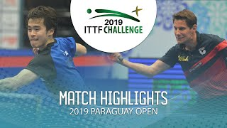 Morizono Masataka vs Gardos Robert | 2019 ITTF Paraguay Open Highlights (Finals)