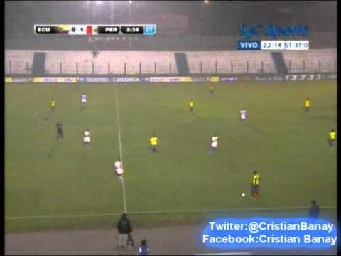 Peru 2 Ecuador 0  (Radio Ovacion) Sudamericano Sub 20 2015 Los goles