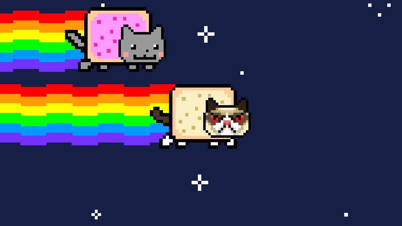 Original Nyan Cat Gif Grumpy Nyan Cat Original