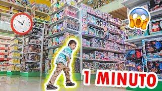 TODOS LOS JUGUETES QUE PUEDA TOMAR EN 1 MINUTO SON GRATIS *jugueteria gigante*