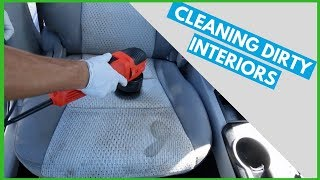 One HOUR of DIRTY INTERIOR CAR CLEANING - Just cleaning, NO Talking