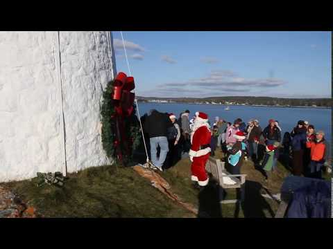 Burnt Island Light Flying Santa 2011