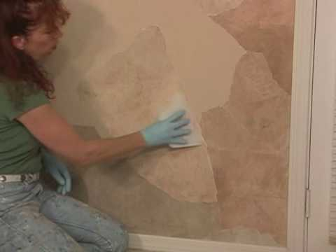 How To Faux Apply Paper Rock Wall Finish Paint Technique
