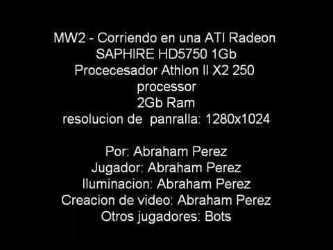 COD MW2 - SAPPHIRE Radeon HD 5750 1Gb