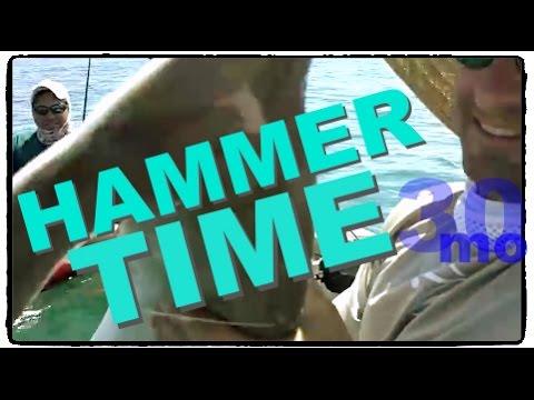 30milesOUT- HAMMER HEAD SHARK -  hobie pro angler KAYAK FISHING OFFSHORE OIL RIGS