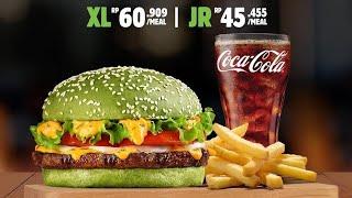 Burger warna hijau, enak gak ya? Mukbang review Damaian Whooper Burger King