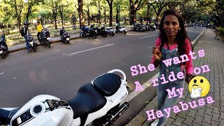 UNKNOWN GIRL ON MY HAYABUSA || AMAZING REACTIONS