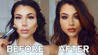 How to Contour and Highlight Face! | Easy Makeup Tutorial for Beginners!