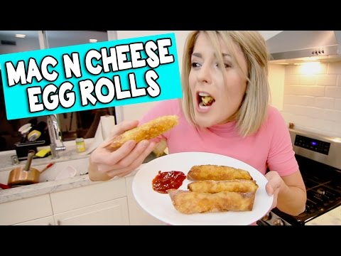 MAC N CHEESE EGGROLLS // Grace Helbig
