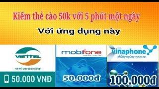 Kiếm thẻ cào 50k với 5 phút mỗi ngàyIMofiin kiếm tiền online cho ios