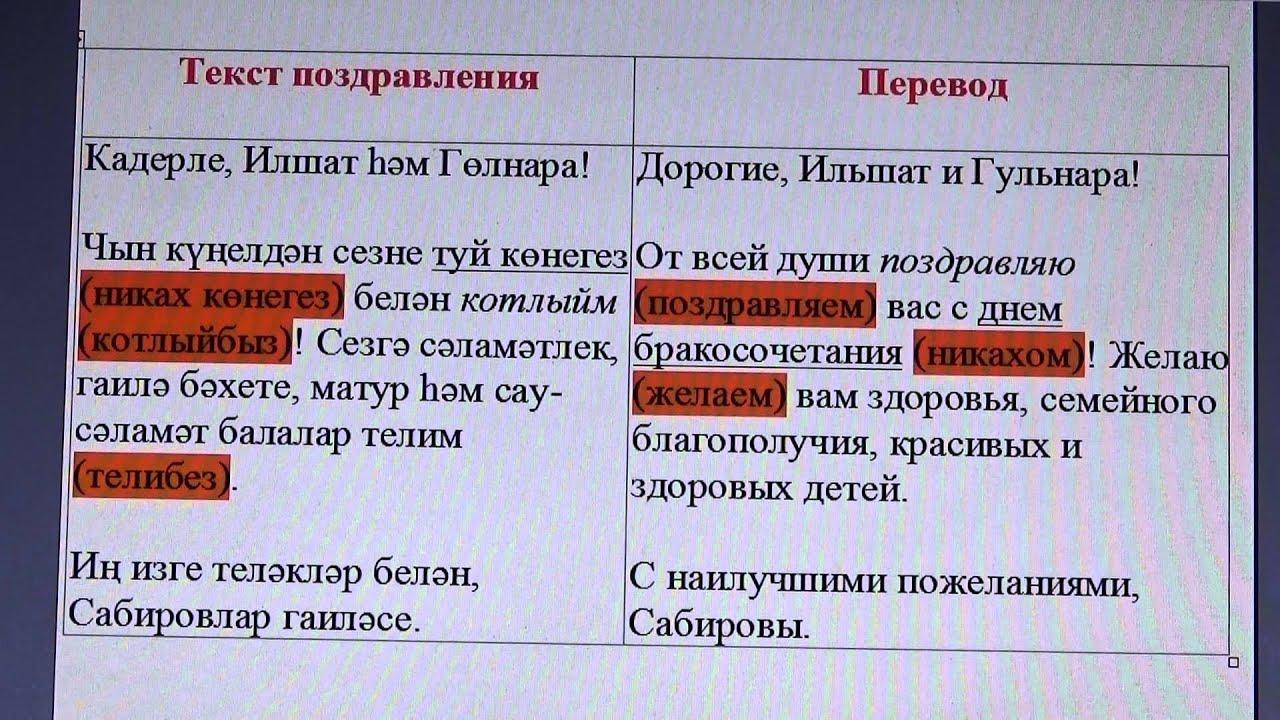 Поздравления на башкирском с никахом