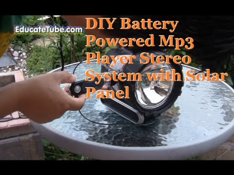 DIY Spotlight MP3 Player Stereo System with Solar Panel Compatible - Cool Weekend Project