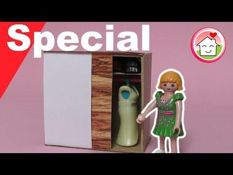 Playmobil deutsch - Pimp my PLAYMOBIL - Kleiderschrank mit Schiebetüren basteln - Family Stories